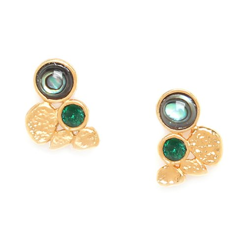 Boucles d'oreilles Franck Herval Becky puces Abalone